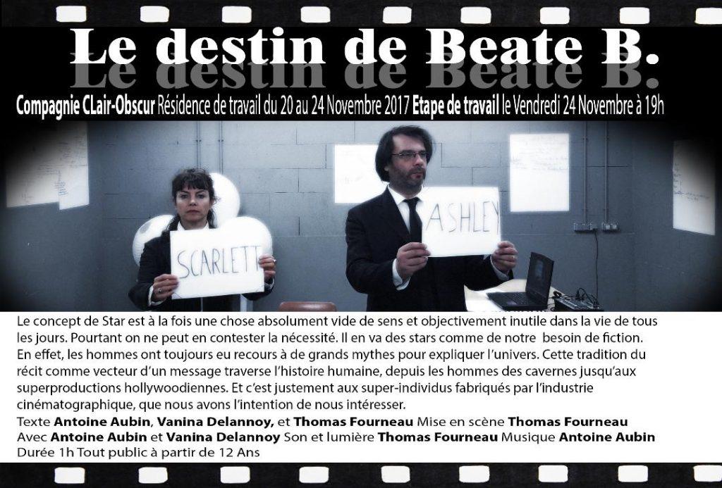 Le destin de Béate B. Résidence Th. des Carmes