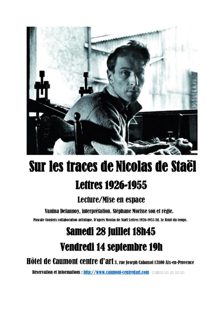 Sur les traces de Nicolas de Staël juillet et septembre