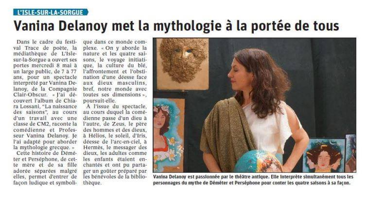 Article Vaucluse matin Déméter